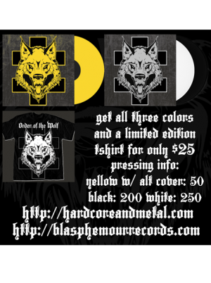 """Order of the Wolf"" 3 Pack plus Tshirt PREORDER"