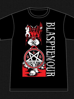 """Blasphemour Records """"Natas Rip"""" Tshirt"""