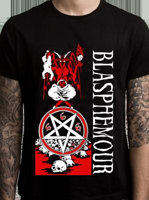 Blasphemour Records - Natas Rip Tshirt