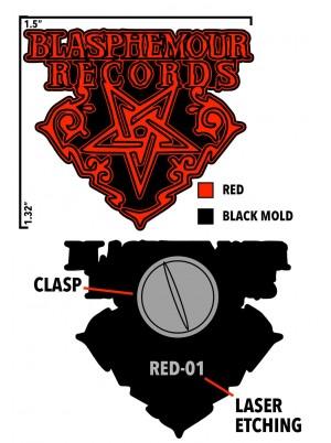 .Blasphemour Records - Logo Soft Enamel Pin (3 options)
