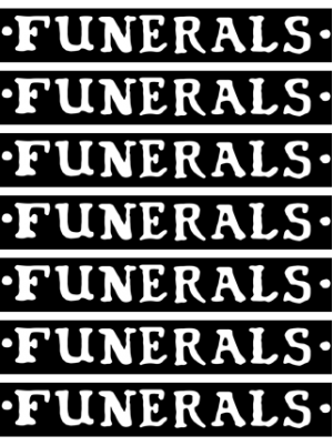 Funerals - Logo Sticker