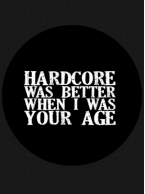 Blasphemour Records - Hardcore Was Better Button
